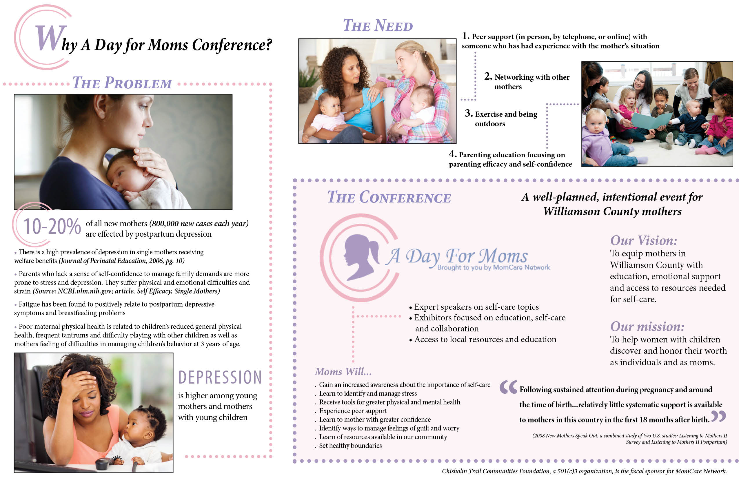 A Day for Moms Case for Support graphic